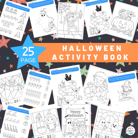 25 Page Halloween Printable Activity Book