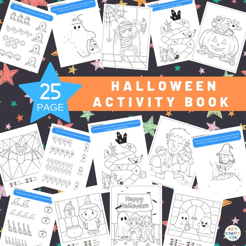 Halloween Printable Activity Book Arty Crafty Kids