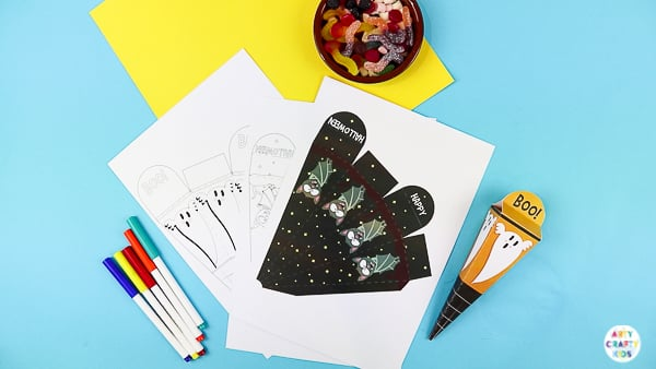Arty Crafty Kids | Printable Halloween Treat Boxes