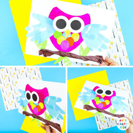 Bobble Head Owl Craft Finished Project | Arty Crafty Kids