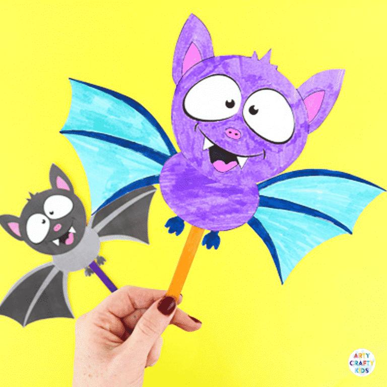 Halloween Craft for Kids | Easy Paper Bat Craft