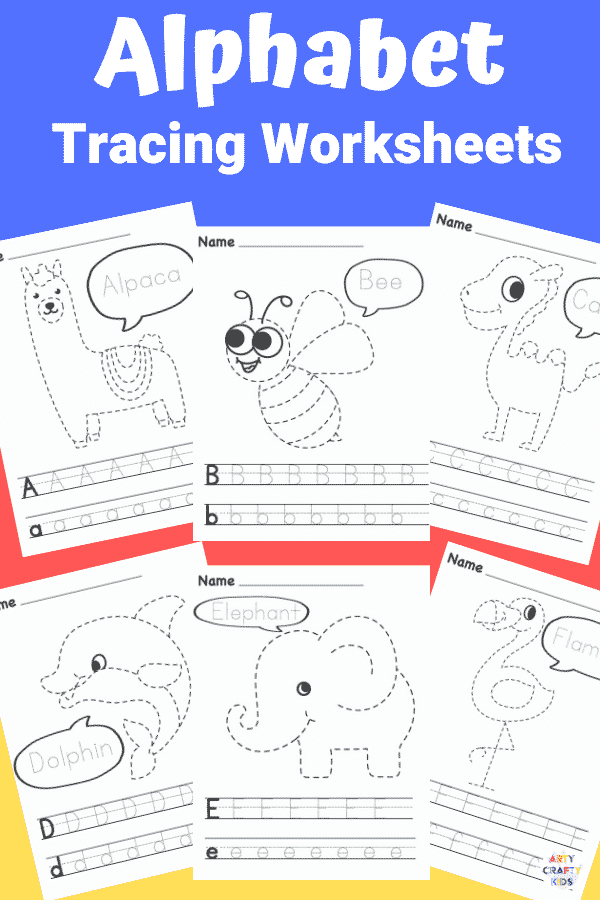 Make learning the alphabet fun with these printable A-Z Alphabet Tracing Worksheets; complete with letter tracing and animal tracing to keep children engaged! Perfect for preschoolers, kindergarten and early years foundation stage