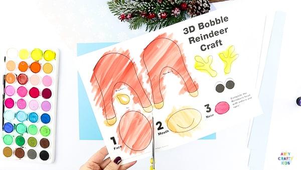 Printable Reindeer Template | A Reindeer Craft for Kids - Preschoolers/Kindergarten