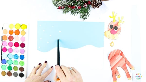 Create Winter Art for the Reindeer