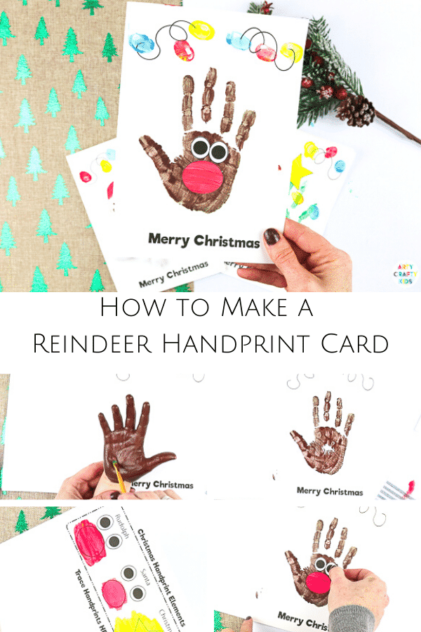 Handprint Christmas Cards | Arty Crafty