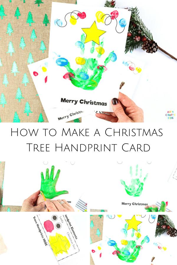 Handprint Christmas Cards | How to Make a Christmas Tree Christmas Card