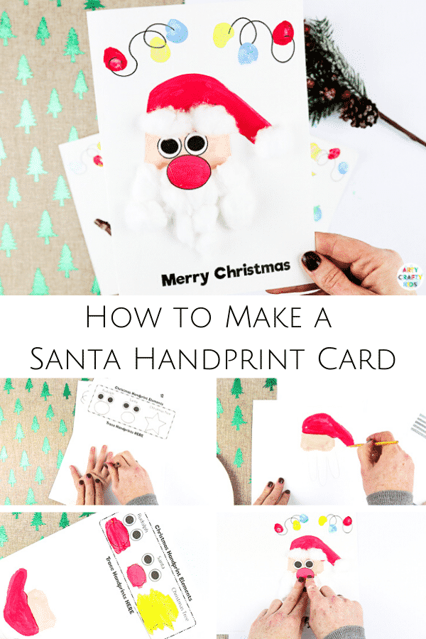 Handprint Christmas Cards | How to Make a Santa Christmas Card
