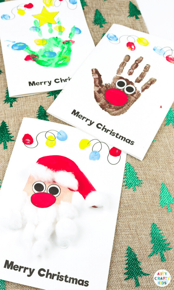 Arty Crafty Kids | Handprint Christmas Cards for Kids - an easy and fun way to make homemade Christmas cards with the kids.