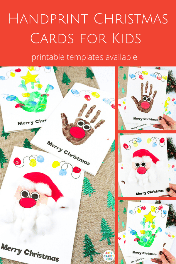 Handprint Christmas Cards Arty Crafty Kids