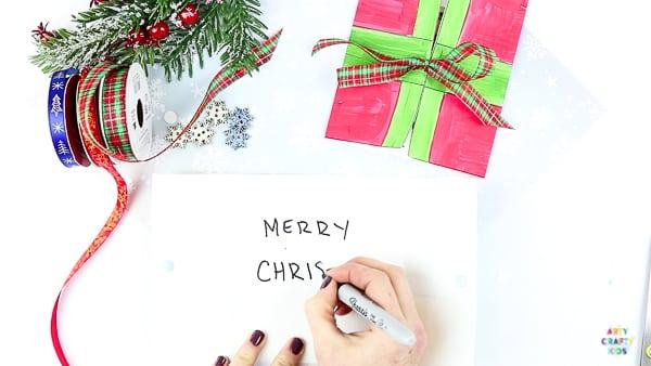 Easy Present Printable Christmas Cards | Simple Printable Christmas cards for kids to make