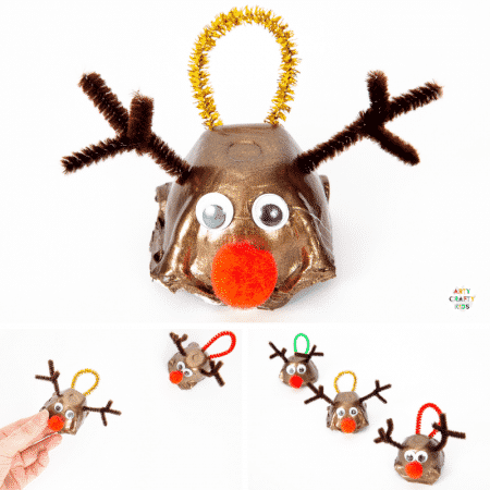How to Make an Egg Carton Ornament - A fun and easy Christmas craft for kids that uses recyclable materials.