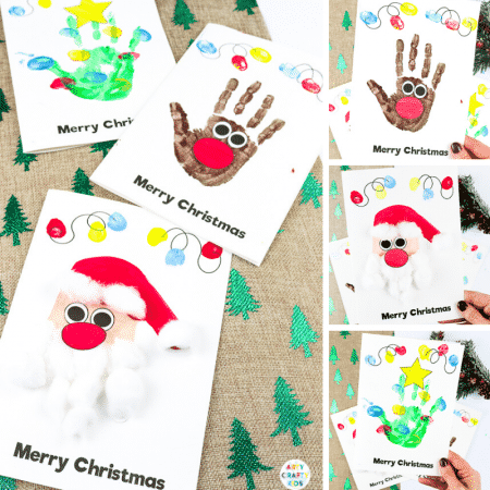 How to Make Handprint Christmas Cards with Kids