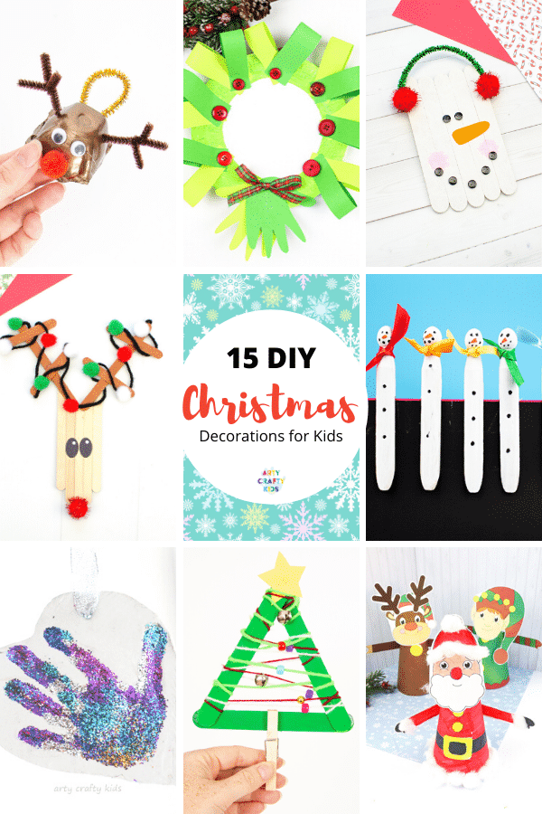 DIY Christmas decorations for kids to make and enjoy throughout the holiday season! Browse this collection of easy Christmas crafts for kids.