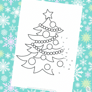 Dot to Dot (1-20) Christmas Tree Colouring Page
