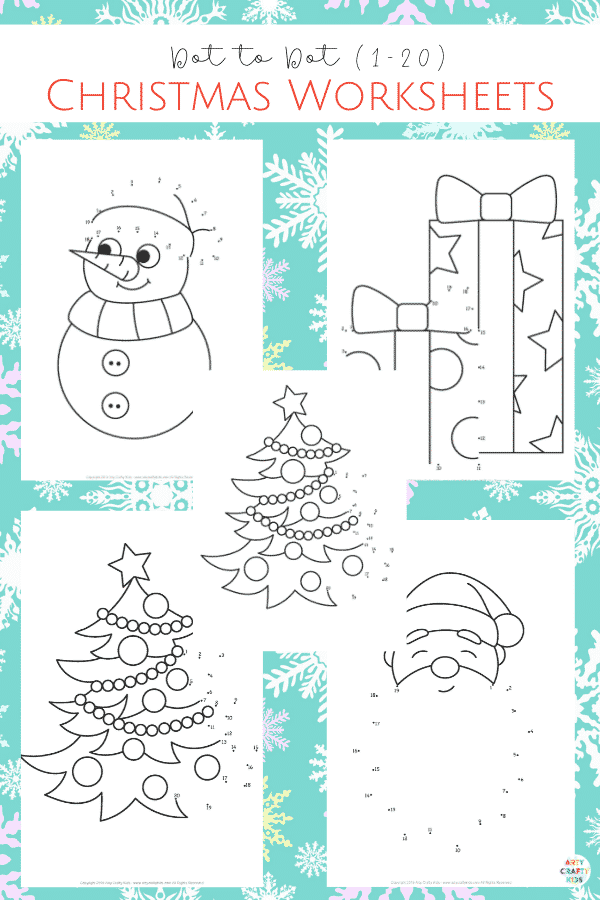 These NO-PREP  5 Dot to Dot Christmas Colouring Pages are designed to reinforce basic counting (1-20) in preschoolers and children up to KS1 (Early Years Education).