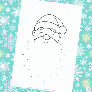 Dot to Dot (1-20) Santa's Beard Colouring Page