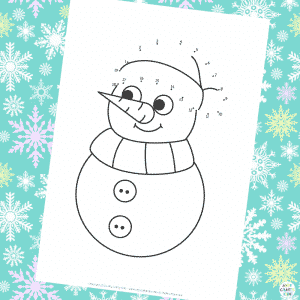 Dot to Dot (1-20) Snowman Christmas Coloring Pages