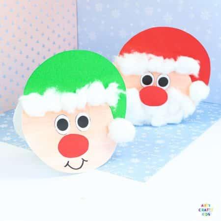 Easy Santa Christmas Card