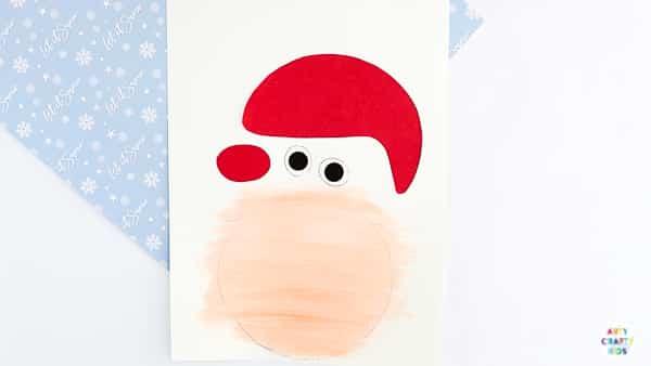 Printable Santa Claus Christmas Card for Kids