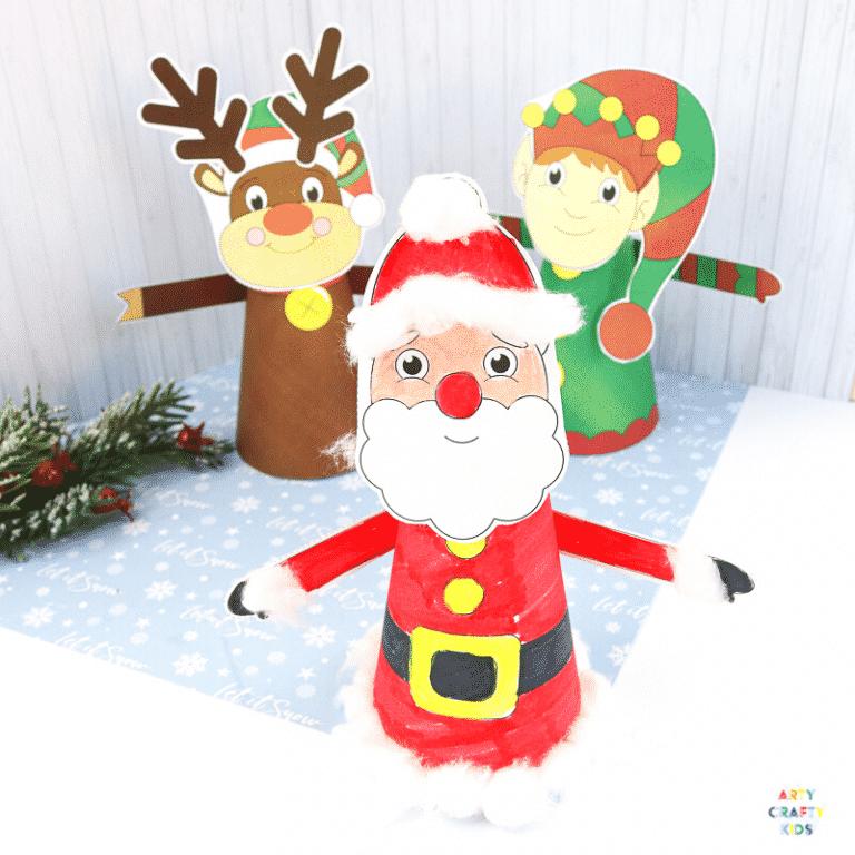 3D Printable Christmas Characters: Easy Christmas Craft for Kids