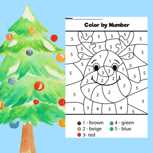 Reindeer Colour by Number