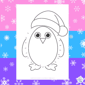 Dot-to-Dot Penguin Winter Coloring Page for Kids