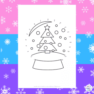 Dot-to-Dot Snowglobe Coloring Page for Kids