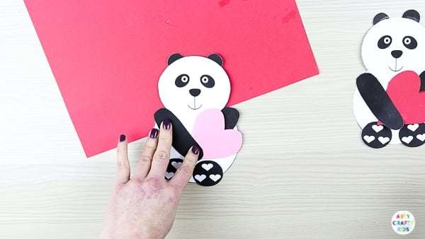 Printable Panda Heart Card | Cute, fun and easy Valentine's day craft for kids!