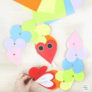A fun Wriggly Heart Snake Craft for Kids
