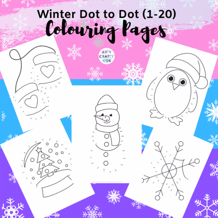 5 Dot-to-Dot Winter Coloring Pages for Kids