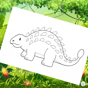 Ankylosaurus Colouring Page for Kids | Dinosaur Colouring for Kids
