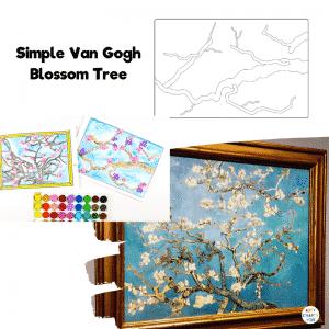 Simple Van Gogh Inspired Blossom Tree