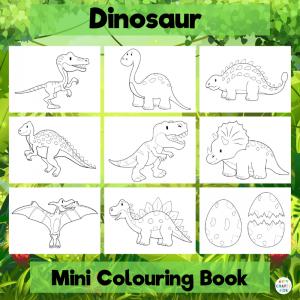 Mini Dinosaur Coloring Book for Kids