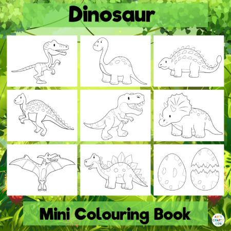 Dinosaur Colouring Book Arty Crafty Kids