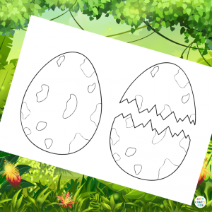 Dinosaur Egg Colouring Page