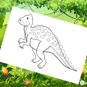 Iguanodon Coloring Page for Kids | Dinosaur Coloring Pages