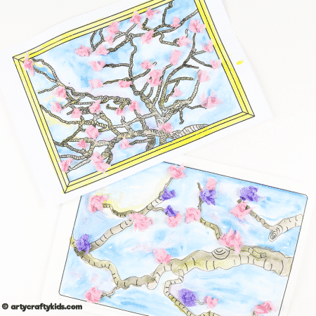 Van Gogh Inspired Blossom Tree Art for Kids