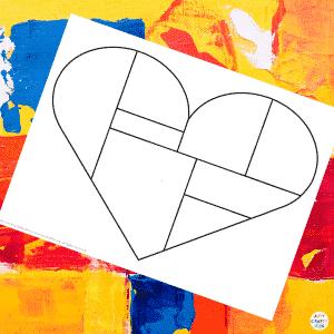 Mondrian Heart Art Example 1