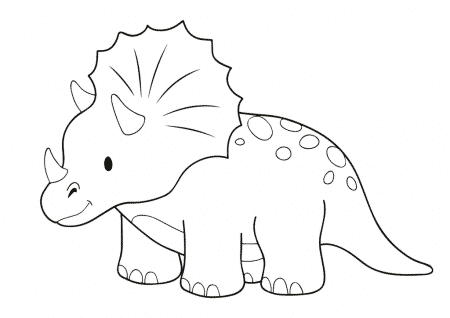 Triceratops Colouring Page Arty Crafty Kids