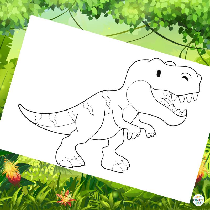 - Tyrannosaurus Rex Colouring Page Arty Crafty Kids