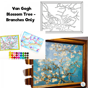 Van Gogh Blossom Tree - Branches Only