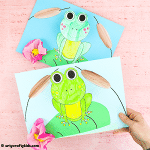 Bobble Head Paper Frog Craft for Kids