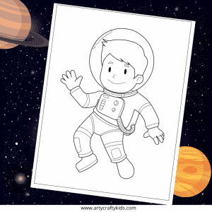 Astronaut Coloring Page for Kids