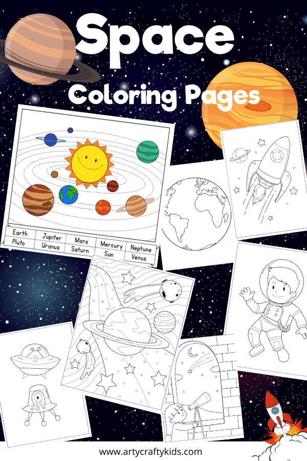 Solar System Activity Page for Kids - Learn the planets of the solar system with this Space Coloring Pages bundle; start with a fun planet labelling activity to coloring astronauts, space rockets and aliens!