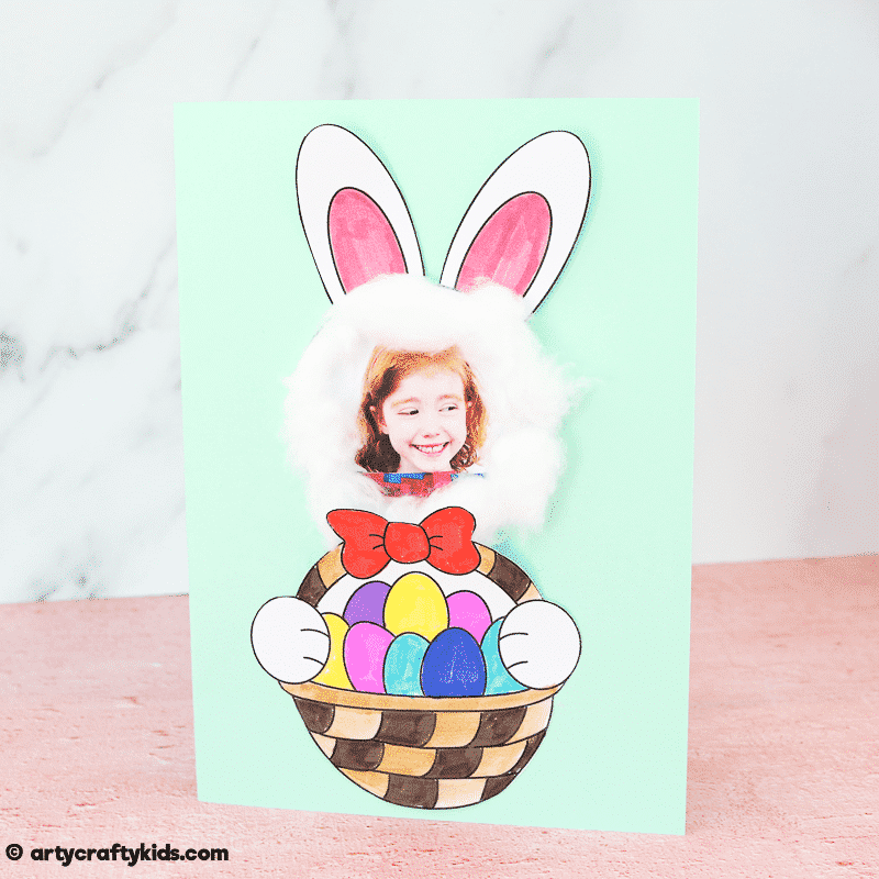 Easter Bunny Photo Card