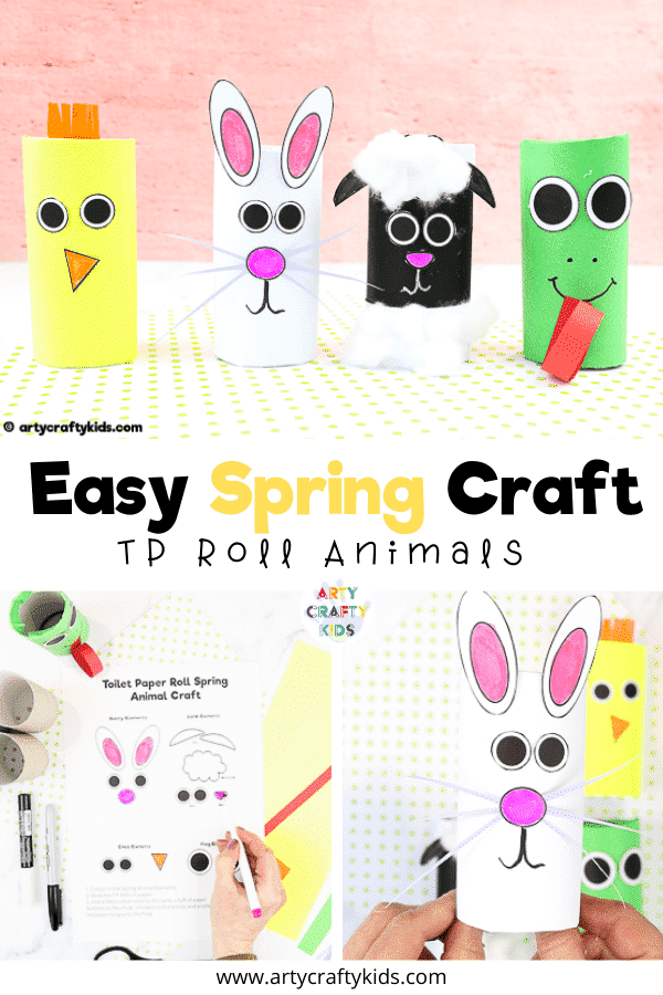 Toilet Paper Roll Spring Animal Craft for Kids - A fun and super easy spring craft for kids.