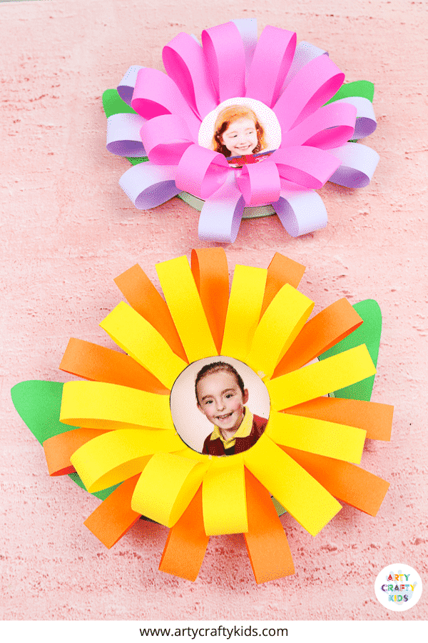 Mother's Day Photo Flower Card for Kids to Make; a special keepsake craft for Mother's Day, personalised with a gorgeous photo of your child.