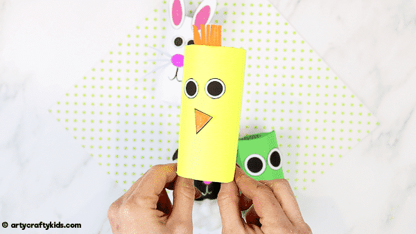 How to Make a Paper Roll Chick  - A fun and super easy spring craft for kids.