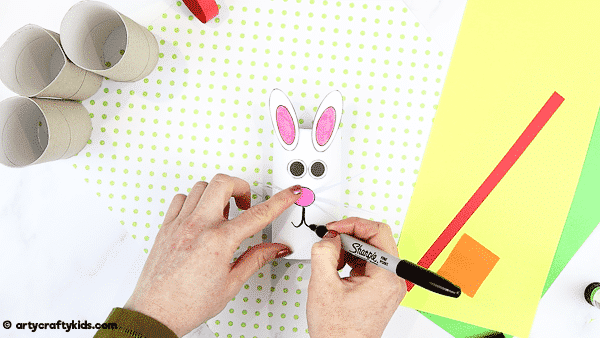 How to Make a Paper Roll Bunny  - A fun and super easy spring craft for kids.