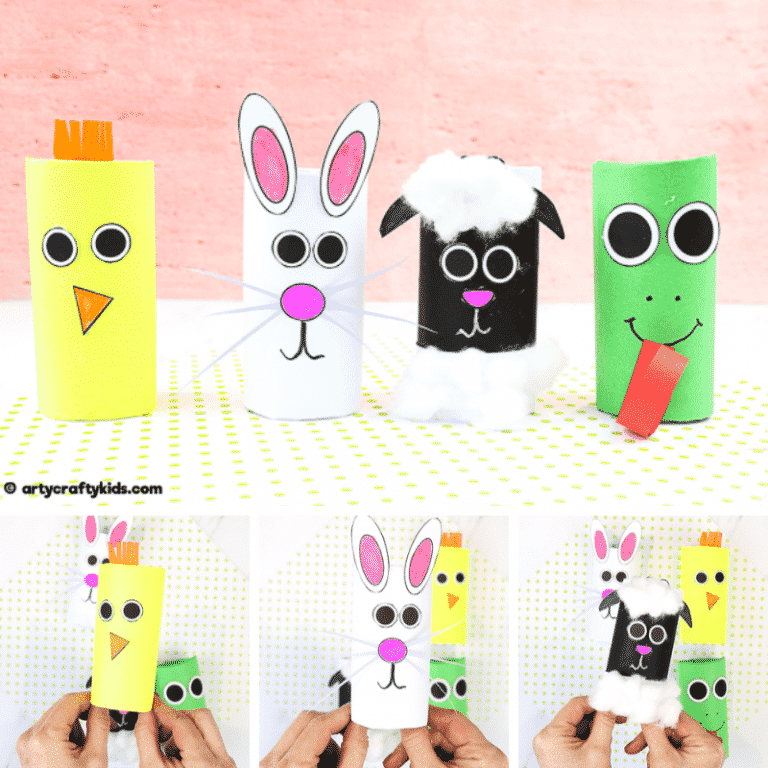 Toilet Paper Roll Spring Animal Craft